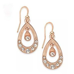 Charter Club Crystal Orbital Drop Earrings NEW